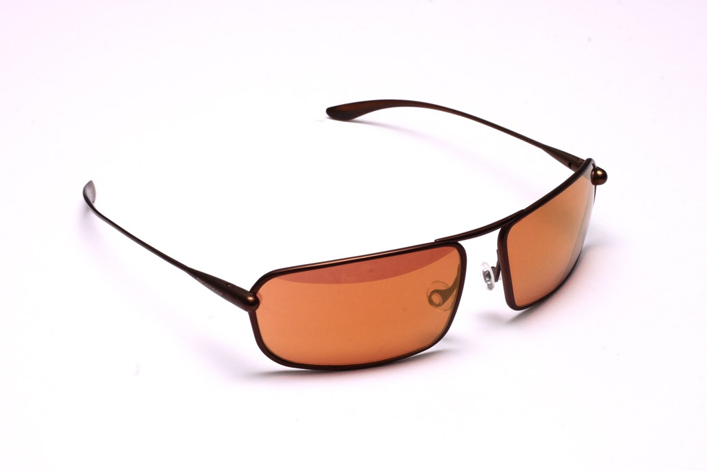 Meso Brunello Titanium Frame Gold Mirror Copper Brown Photochromic Sunglasses Bigatmo Sunglasses