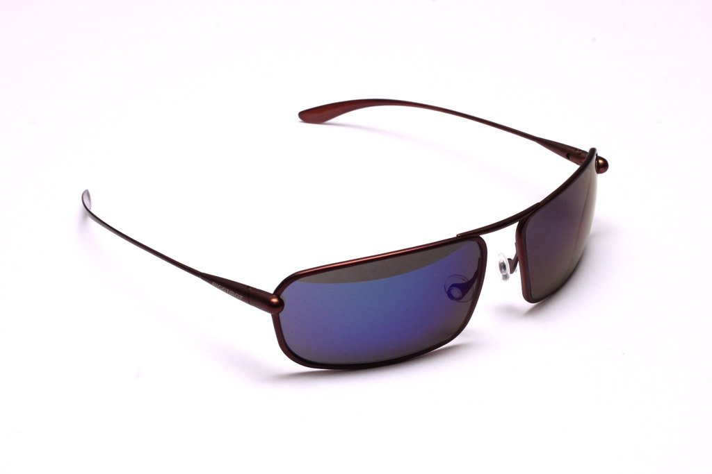 Meso - Brunello Titanium Frame Iridescent Blue Mirror Grey Polarized Sunglasses