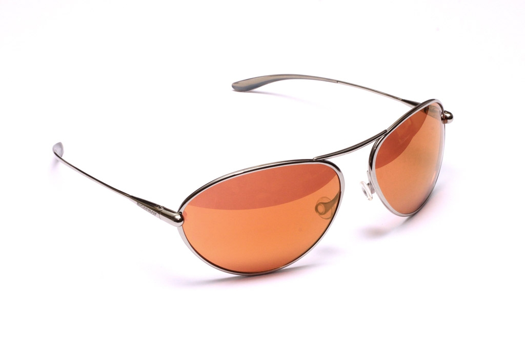 Tropo - Polished Titanium Frame Gold Mirror Copper/Brown Photochromic Sunglasses