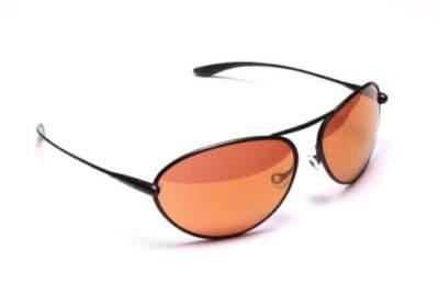 Bigatmo Tropo sunglasses for pilots with Gunmetal Sculpted Titanium frame and Copper Brown photochromic lenses