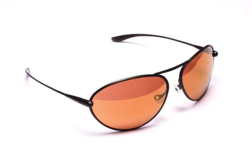 Bigatmo Tropo sunglasses for pilots with Gunmetal Sculpted Titanium frame and Copper Brown photochromic lenses