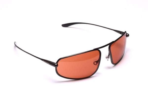 Bigatmo Strato pilot sunglasses. Gunmetal titanium frame and Alutra copper brown photochromic lenses