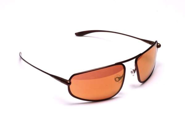 Bigatmo titanium frame sunglasses with copper brown photochromic lenses