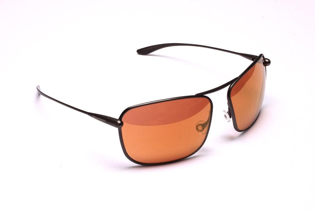 Iono - Gunmetal Titanium Frame Gold Mirror Copper/Brown Photochromic Sunglasses