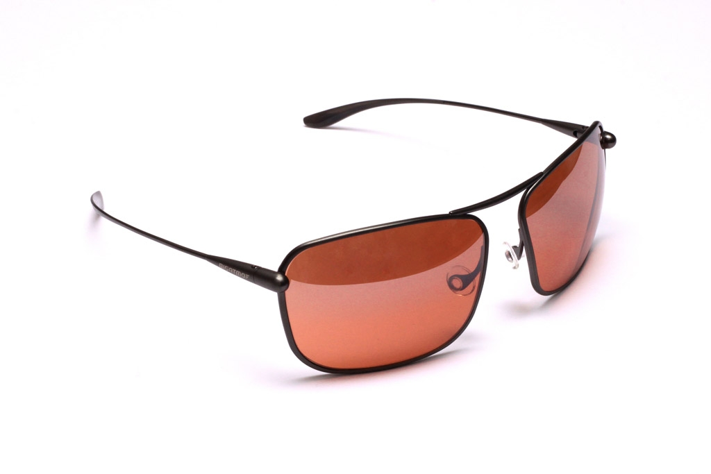 Iono - Gunmetal Titanium Frame Silver Gradient Mirror Copper/Brown Photochromic Sunglasses