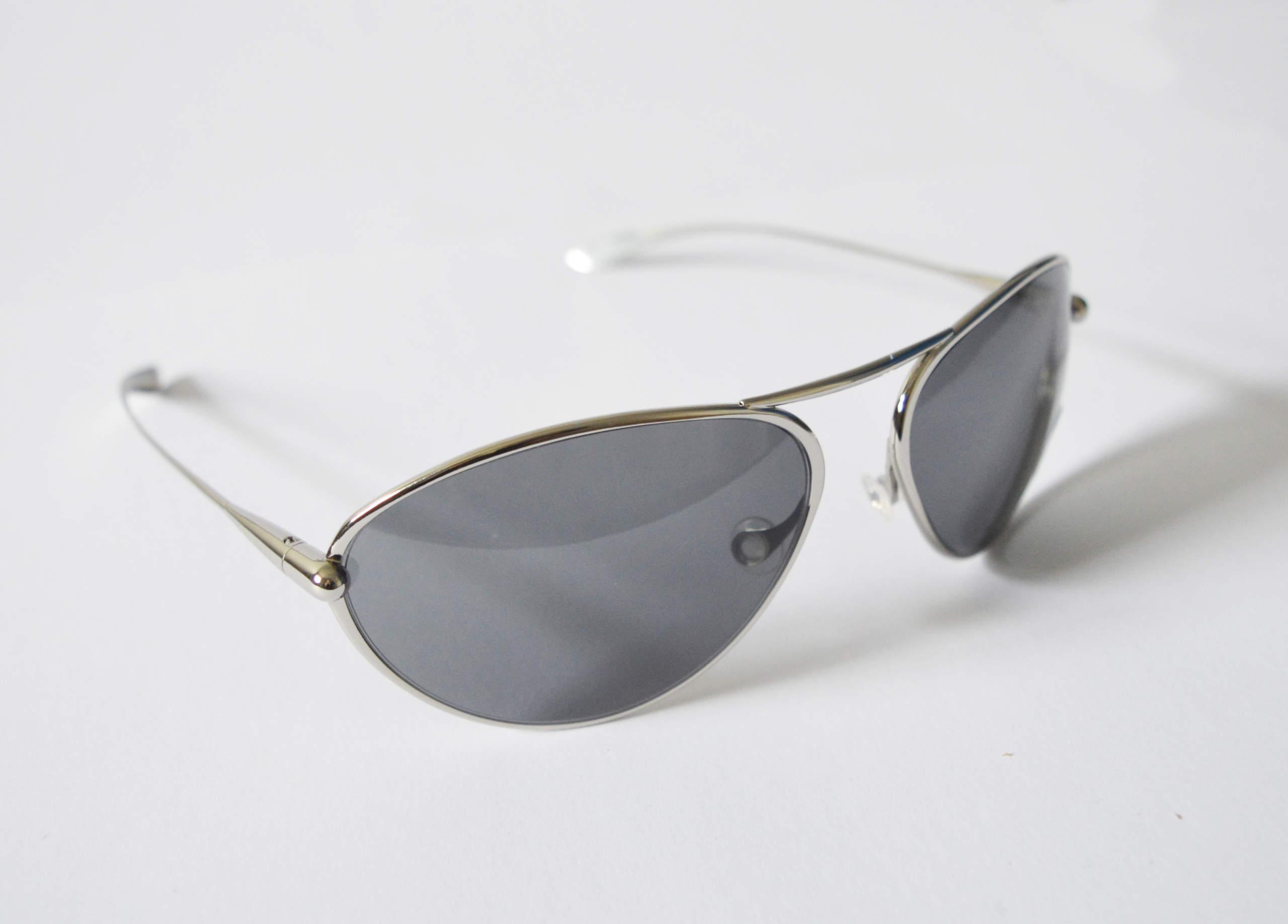 Tropo - Polished Titanium Frame High-Contrast Sunglasses