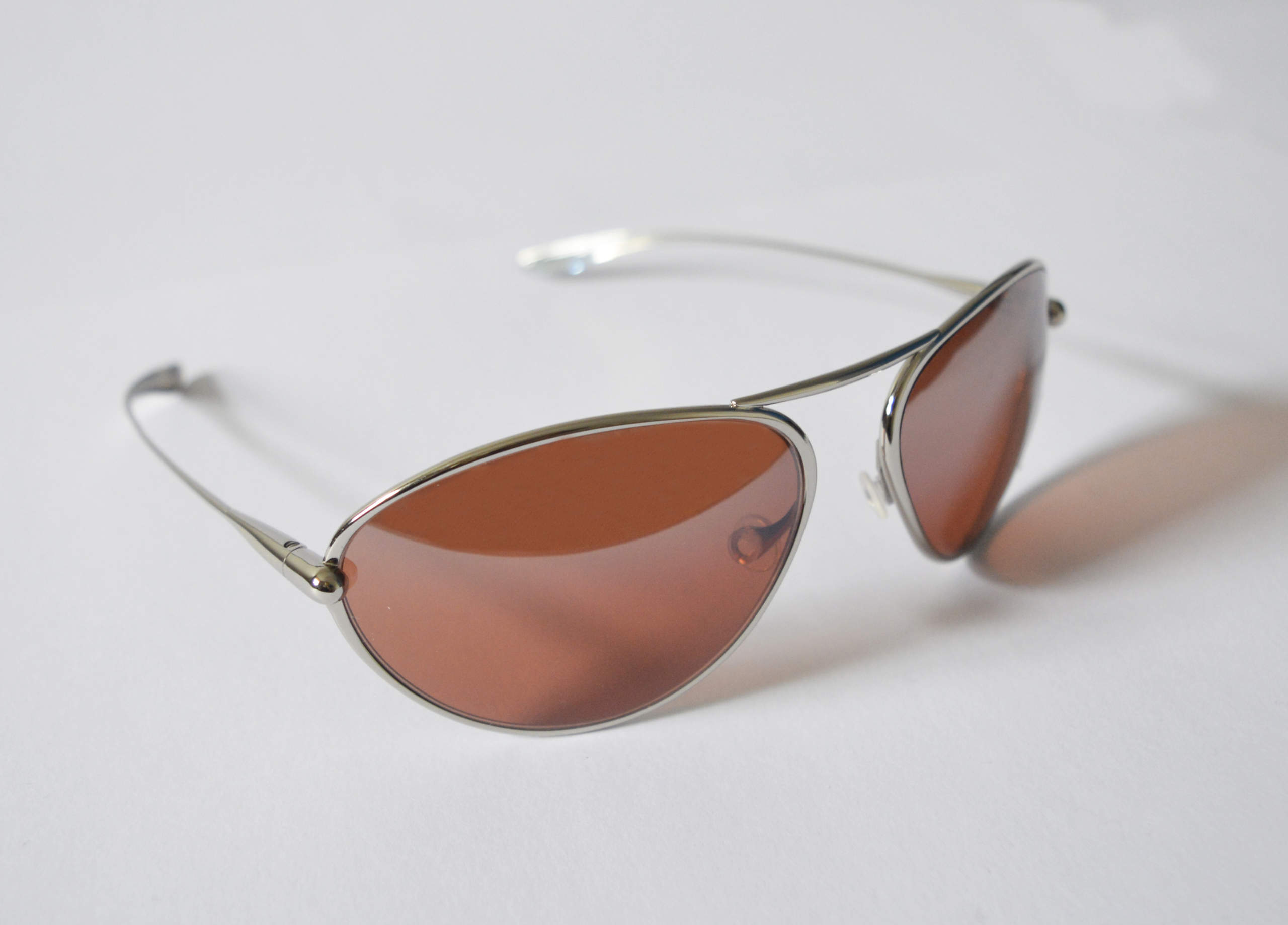 Tropo - Polished Titanium Frame Silver Gradient Mirror Copper/Brown Photochromic Sunglasses