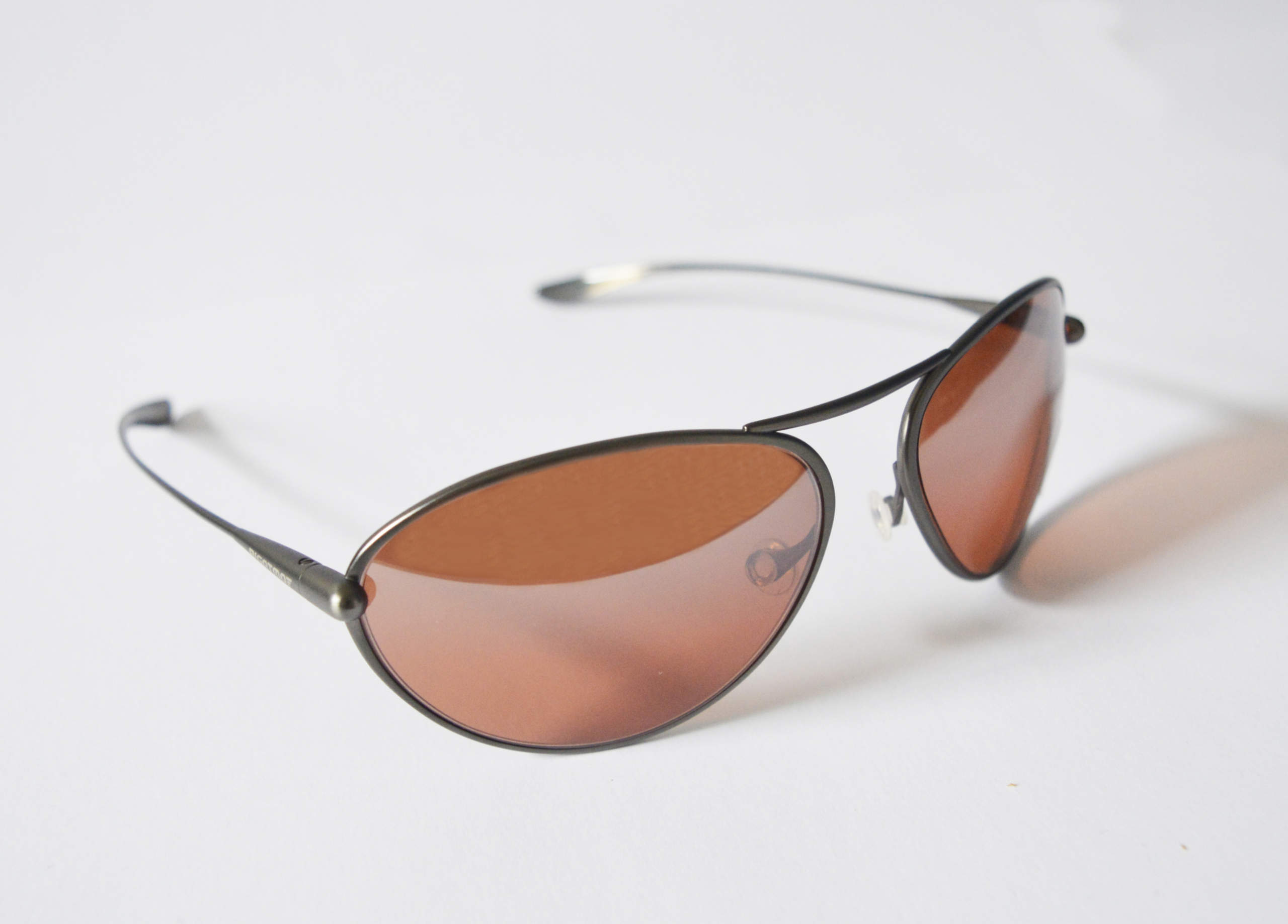 Tropo - Gunmetal Titanium Frame  Silver Gradient Mirror Copper/Brown Photochromic Sunglasses