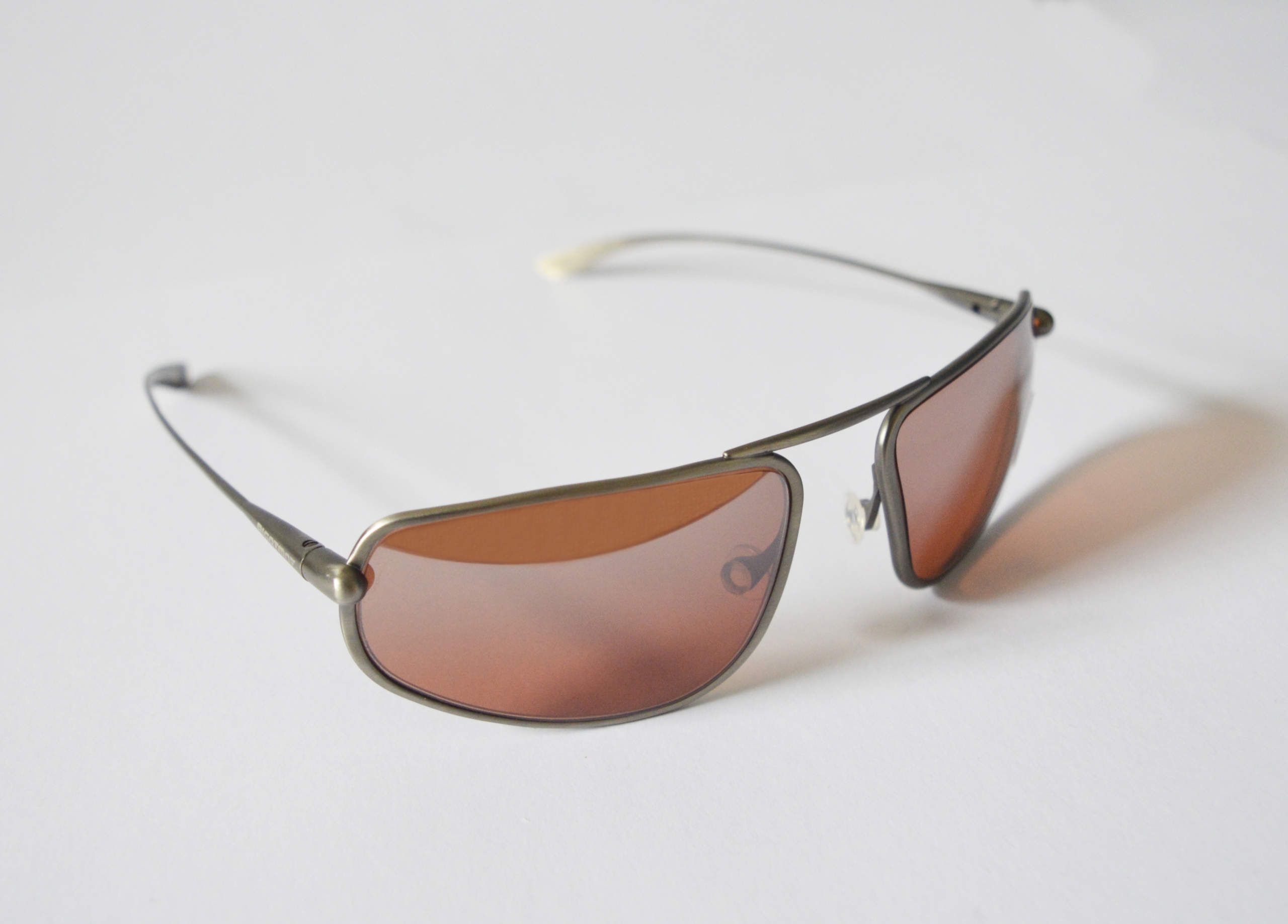 Strato - Natural Titanium Frame Silver Gradient Mirror Copper/Brown Photochromic Sunglasses
