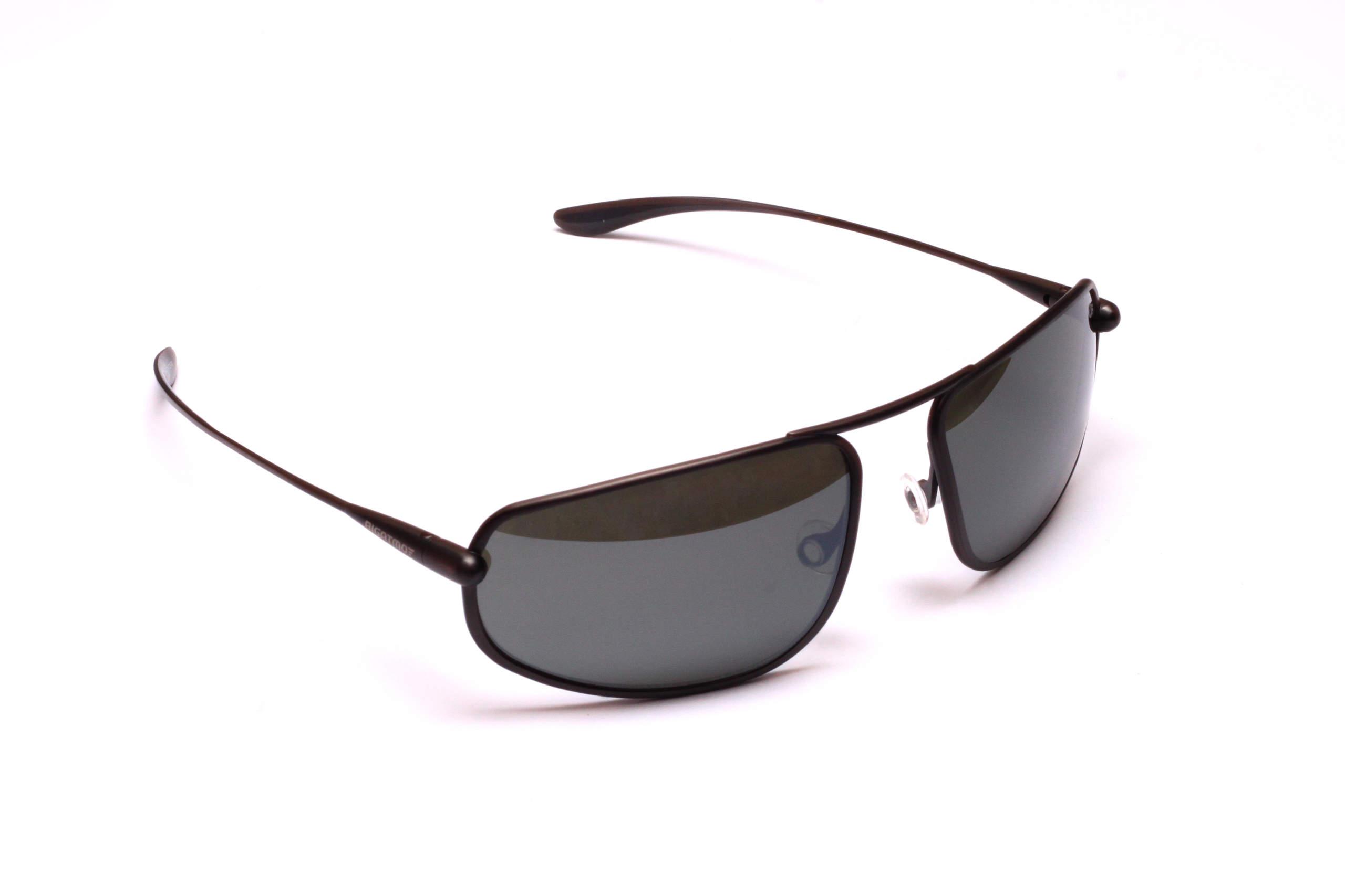 Strato - Graphite Titanium Frame Light Silver Mirror Grey Polarized Sunglasses
