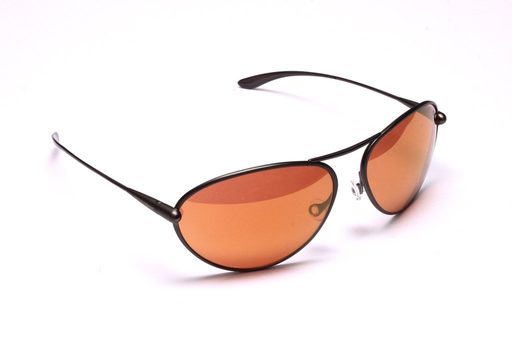 Tropo - Gunmetal Titanium Frame Gold Mirror Copper/Brown Photochromic Sunglasses