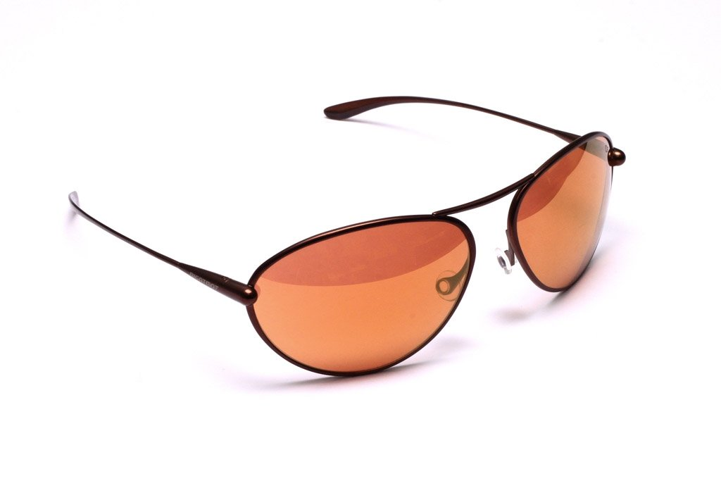 Tropo - Brunello Titanium Frame Gold Mirror Copper/Brown Photochromic Sunglasses