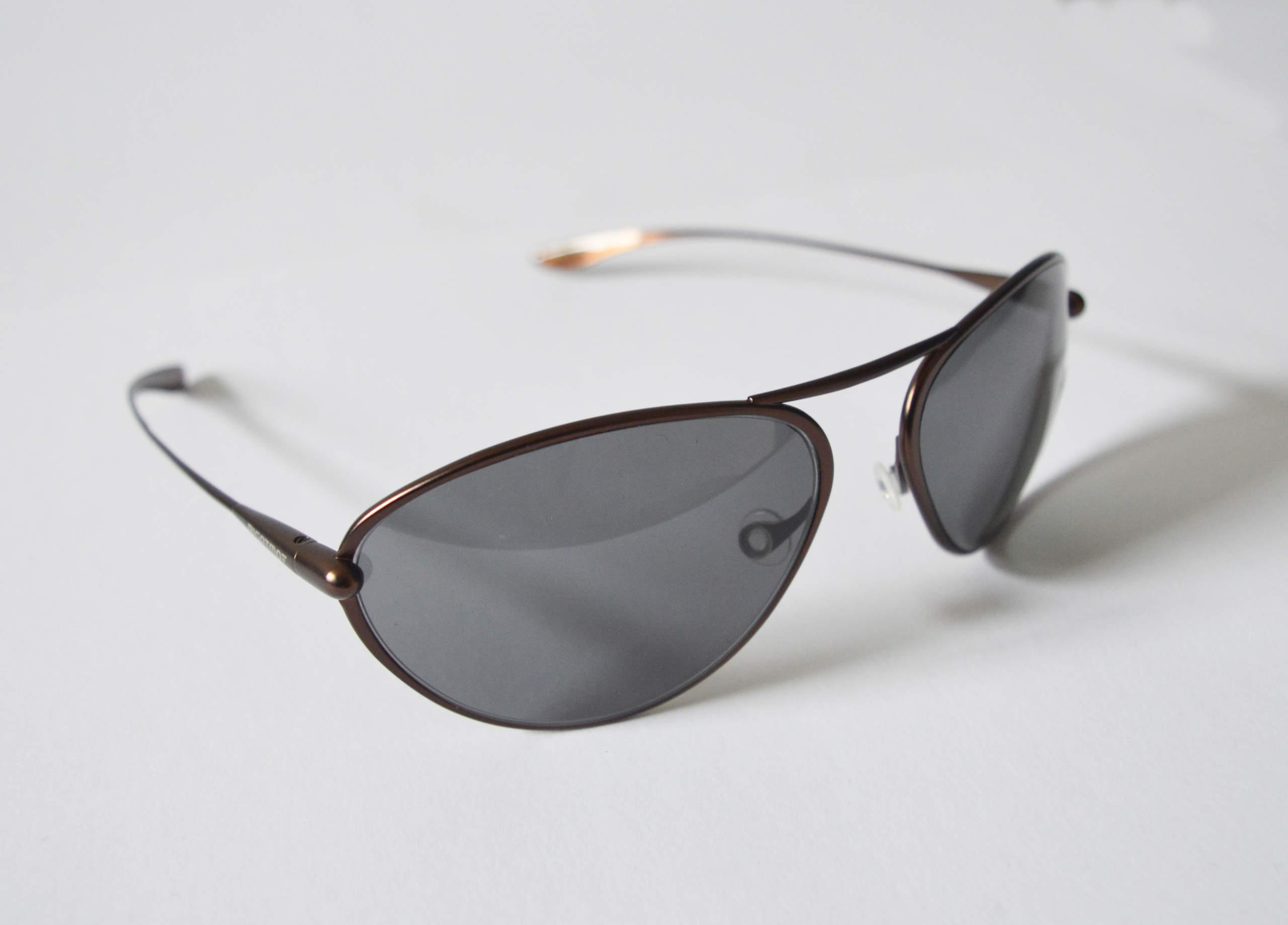 Tropo - Brunello Titanium Frame High-Contrast Sunglasses