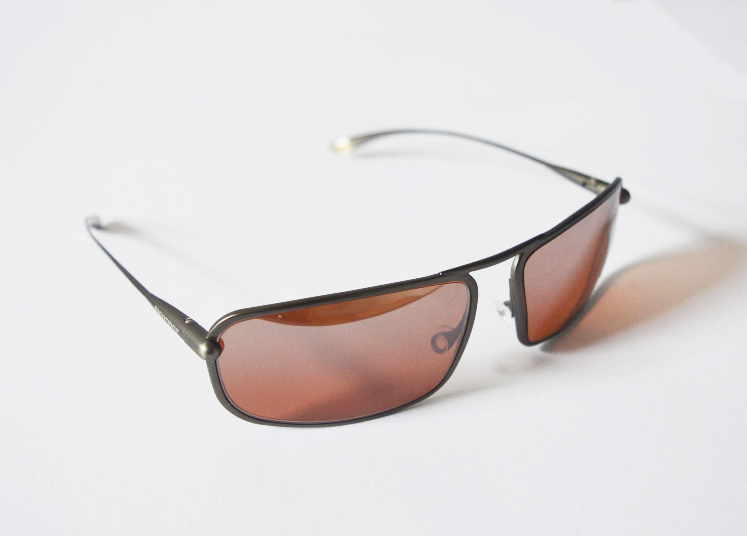 Meso Sunglasses, Gunmetal Titanium Frame and Alutra (Copper/Brown) Photochromic Lenses with a Light Silver Gradient Mirror