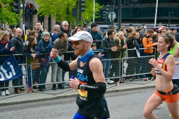 Luke running in the London Marathon 2015