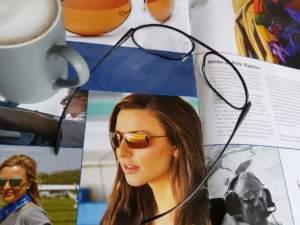 Bigatmo prescription Exo glasses on a magazine