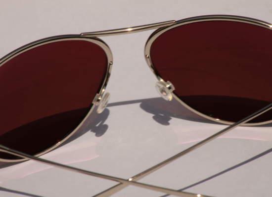 Close up of Bigatmo sunglasses with Alutra photochromic lens